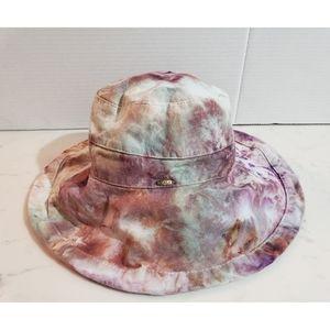 Scala Adjustable Hand Watercolor Tie Dye Sun Hat